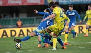 Chievo-Sassuolo 1-1: gli emiliani in nove pareggiano al 95'