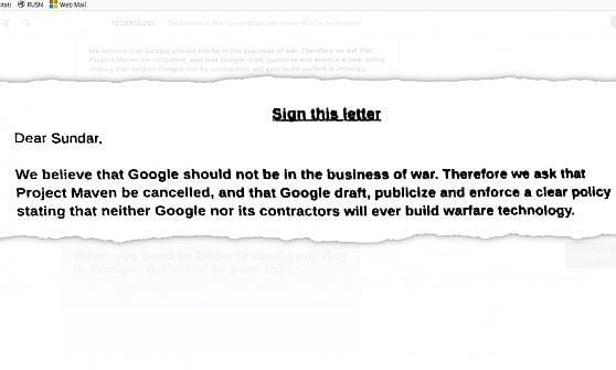 Google in affari col Pentagono. La rivolta dei dipendenti: Non siamo il diavolo