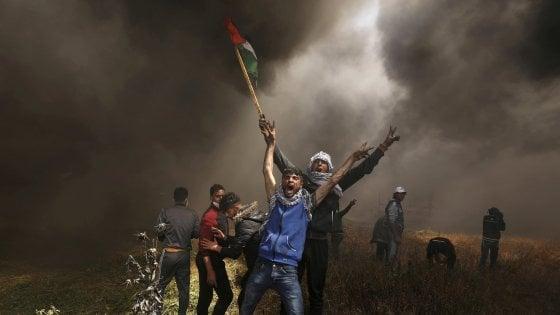 Scontri a Gaza, fonti mediche: nove i morti, 1354 feriti