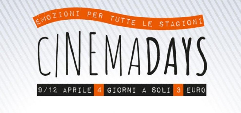Tornano i CinemaDays: al cinema con biglietto a 3 euro