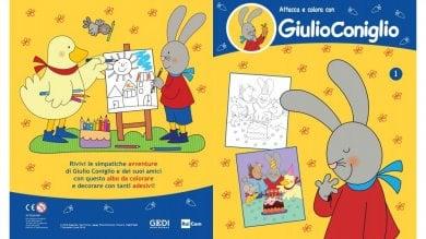 GiulioConiglio in una collana di libri: il cartoon fenomeno amato dai piccini   foto