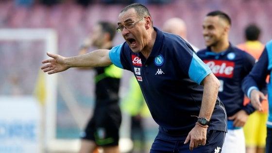 """Napoli, Sarri: """"La spinta del pubblico è stata decisiva"""""""