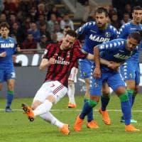 Milan-Sassuolo 1-1: Kalinic salva i rossoneri, ma la Champions resta lontana