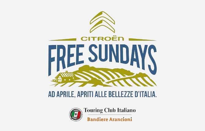 Free Sundays, idea Citroën in collaborazione con il Tci