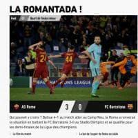 Roma-Barcellona, l'impresa giallorossa sui siti stranieri:
