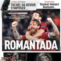 Champions League, impresa Roma contro il Barcellona: la notizia sulle prime pagine dei quotidiani