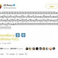 Impresa Roma in Champions: su Twitter il social media manager si scatena sulla tastiera