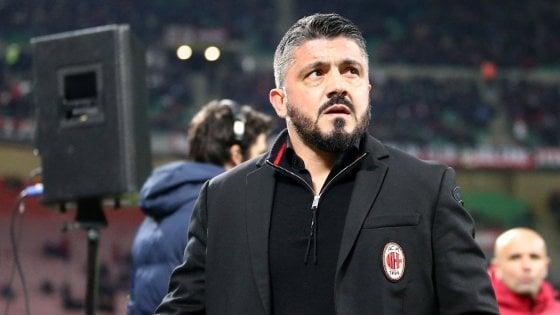 Milan, Gattuso: ''La squadra è viva, coraggio e determinazione per battere il Napoli''