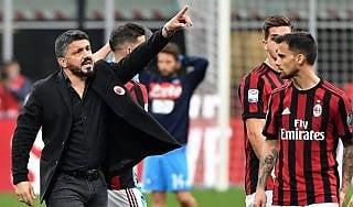 Milan, Gattuso: ''Strada giusta, ma la Champions è lontana''
