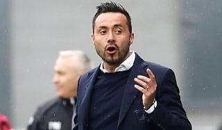 """Benevento, De Zerbi: """"Peccato, avremmo potuto vincere"""""""
