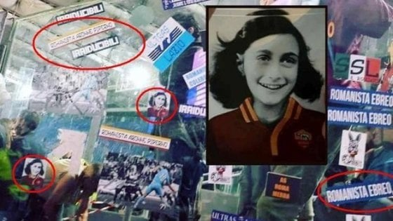 """Lazio, ancora cori antisemiti: """"Anna Frank è della Roma"""""""