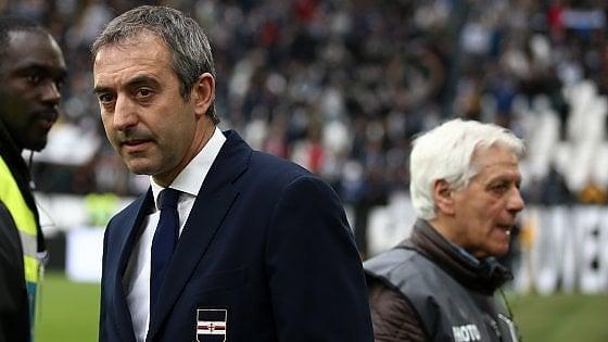 """Sampdoria, Giampaolo: """"Irregolare il primo gol della Juventus"""""""