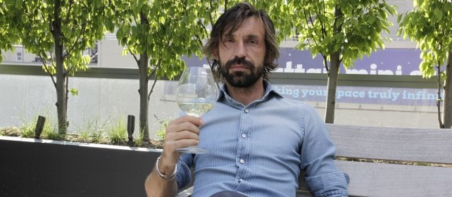 """Andrea Pirlo: """"Un grande vino è come    un grande calciatore: lo riconosci subito"""""""
