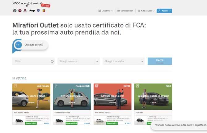 Mirafiori Outlet, comprare on line è più facile