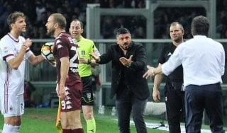 """Milan, Gattuso: """"La Champions? Guardiamoci alle spalle"""""""