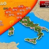 Meteo, temperature quasi estive in tutta Italia: venerdì il picco di caldo