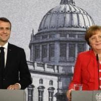 """Una nuova Europa """"entro giugno"""", la Siria, che fare con Trump e Putin: Macron incontra..."""