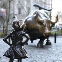 """La """"fearless girl"""" lascia Wall Street: sarà rimossa la statua della """"ragazza senza paura"""""""