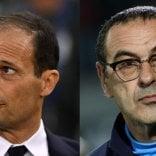 Diversi ma uniti dai risultati Allegri-Sarri, la sfida scudetto è il meglio del calcio italiano