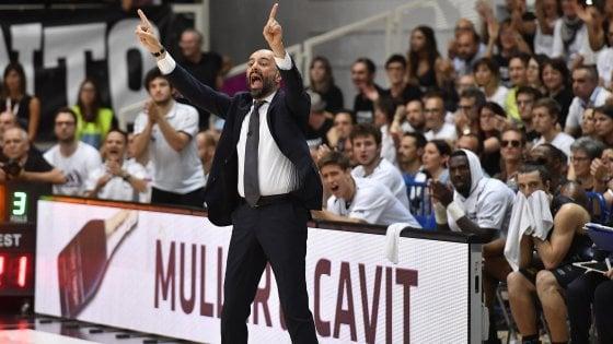 Basket, Trento in volo verso i play off. Buscaglia: ''Noi ci proviamo sempre''