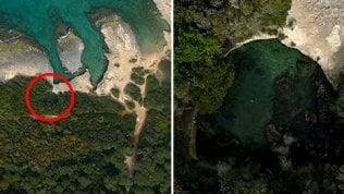 Il drone 'scopre' piscina naturalenascosta nella macchia