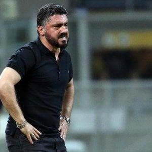 """Milan, Gattuso: """"Squadra senz'anima, mi vergogno per questa sconfitta"""""""