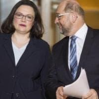 Germania, Spd sceglie Nahles: prima donna a guidare il partito