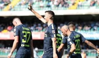 Chievo-Inter 1-2, Icardi e Perisic tengono vivo l'obiettivo Champions