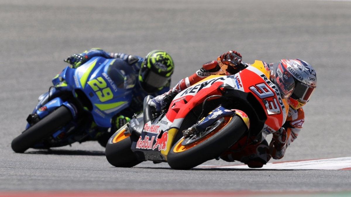 MotoGp, Gp Americhe: sesto trionfo dello 'sceriffo' Marquez. Iannone terzo, 4° Rossi - Repubblica.it