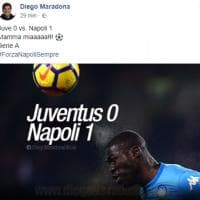 """La gioia di Maradona dopo la vittoria del Napoli sulla Juve: """"Mamma mia!"""""""