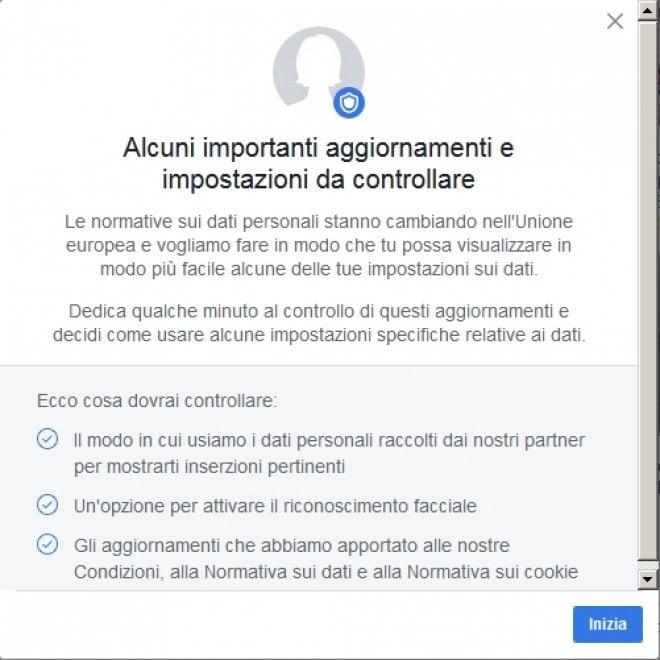 Facebook: la nuova policy, passo dopo passo