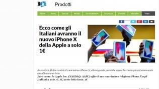 La truffa: ''iPhone X a 1 euro''. Falsi articoli di Repubblica usati per rubare i soldi degli utenti