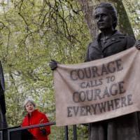 Londra, per la prima volta la statua di una donna a Parliament Square