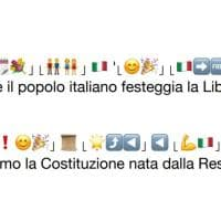 Il 25 aprile in emoji: la Costituzione tradotta dalle faccine all'italiano