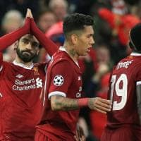 Liverpool-Roma 5-2: doppiette di Salah e Firmino, in gol Mané, Dzeko e