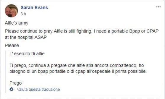 Alfie, i giudici respingono ricorso in aula: il bambino non verrà in Italia