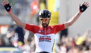 Ciclismo, Giro di Romandia: perla di De Gendt. Il belga trionfa dopo 167 chilometri di fuga