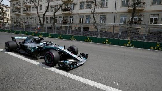 Gp Azerbaigian, vittoria di Hamilton, seconda la Ferrari di Raikkonen