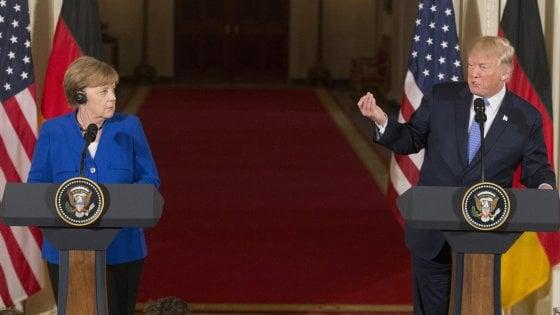 """Incontro Trump-Merkel è gelo: sui dazi alla Ue gli Usa non cambiano idea. """"Basta squilibri"""""""