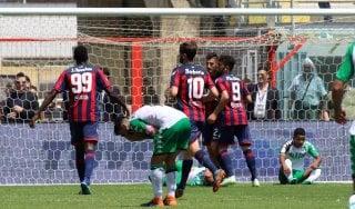 Crotone-Sassuolo 4-1, doppiette di Trotta e Simy e colpo salvezza per i calabresi
