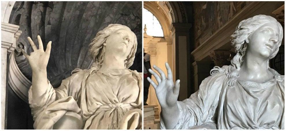 Santa Bibiana mutilata: uno dei capolavori di Bernini perde un dito durante un trasloco