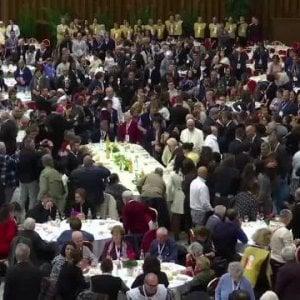 """""""Un piatto di pasta con il Papa"""", recente appuntamento per 1.500 poveri"""