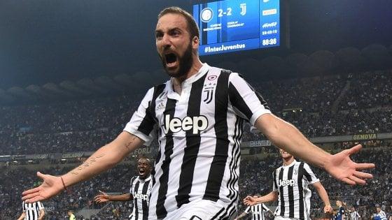 Juventus, Higuain: ''Battendo l'Inter abbiamo dato una mazzata al campionato''