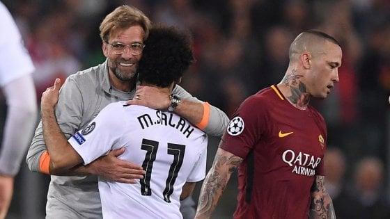 Champions, Roma-Liverpool 4-2: giallorossi ad un passo dall'impresa con Dzeko e Nainggolan