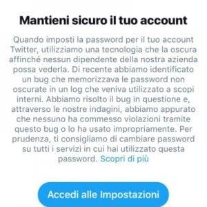 Twitter, come cambiare la password e difendere il proprio account