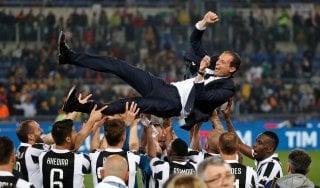 """Juventus, il trionfo di Allegri: """"Coppa Italia meritata, questo è un grande gruppo"""""""