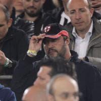 Finale Coppa Italia, in tribuna tra i vip Salvini versione 'ultrà'