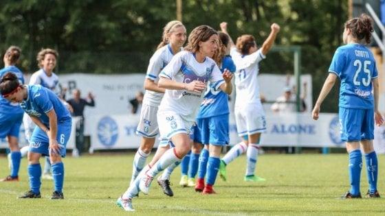 """Calcio femminile, il sogno del Brescia: """"Avevamo una sola giocatrice, ora sfidiamo il colosso Juve"""""""