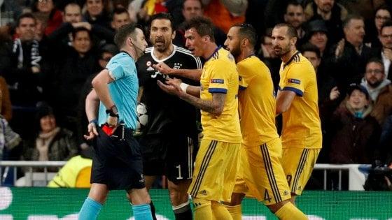 Real-Juve, rosso e sfogo contro l'arbitro: Uefa apre procedimento contro Buffon