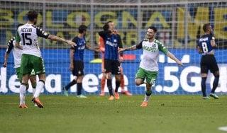 Inter-Sassuolo 1-2, la Champions dei nerazzurri ora è appesa a un filo
